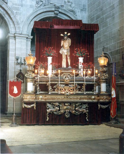 En el año 1951 se procede a la instauración de un Quinario como preparación espiritual para la Fiesta Principal, que se celebra cada segundo domingo de Cuaresma. La fotografía es del Quinario de 1985.