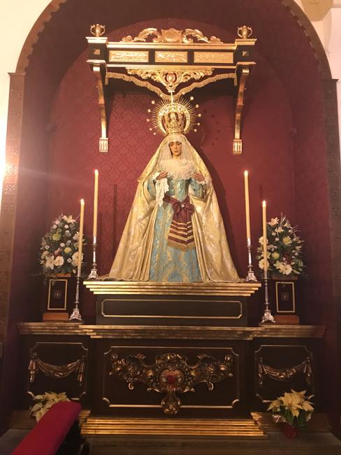El 17 de diciembre de 2017, tras un arduo y laborioso periodo de obras, se celebró la reapertura de la Capilla de Nuestros Titulares y la bendición del nuevo Altar de la Virgen.