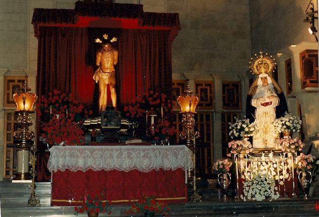 Altar de Quinario dedicado a Nuestros Titulares en 1988