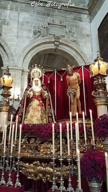 Nuestros Titulares en el Altar del Quinario del año 2016